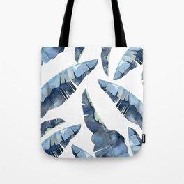 Banana Leaves 2 Blue Tote Bag