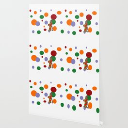 Monkey and Dots Wallpaper
