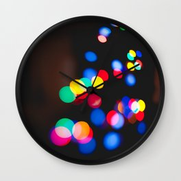 Bokeh Party Wall Clock