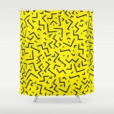 Memphis pattern 35 Shower Curtain