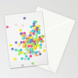 Confetti on White Stationery Cards