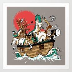Miyazaki's ark Art Print