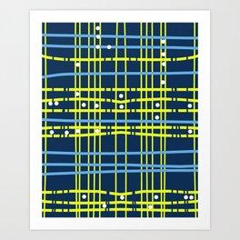 Rava - modern stripes geometric trendy navy beach surf california dorm decor college hipster Art Print
