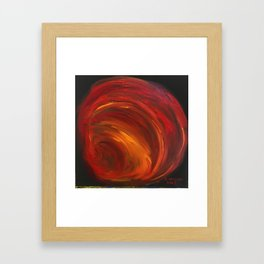 """Mainly Red"" Framed Art Print"