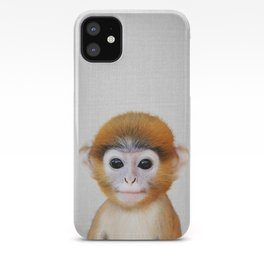 Baby Monkey - Colorful iPhone Case