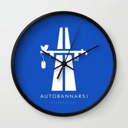 Autobannarsi Wall Clock