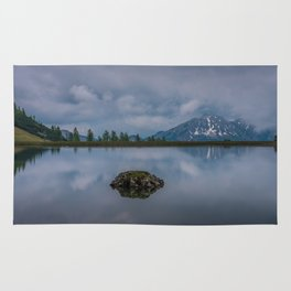 Lake in the Alps Rug