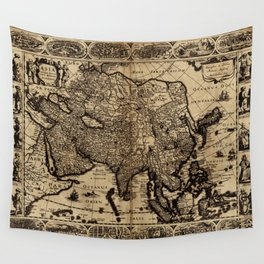 Map Of Asia 1630 Wall Tapestry