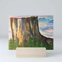 A climbers high Mini Art Print