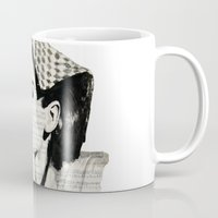 audrey Mugs featuring Audrey by Krzyzanowski Art