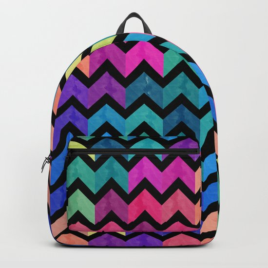 Watercolor Chevron Pattern VII Backpack
