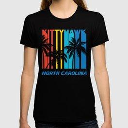 Retro Kittyhawk North Carolina Palm Trees Vacation T-shirt