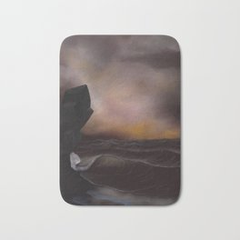 A Stormy Ocean Bath Mat