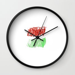 flag of hungary - chalk version Wall Clock