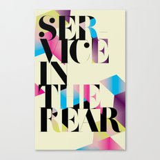 service in the rear Canvas Print