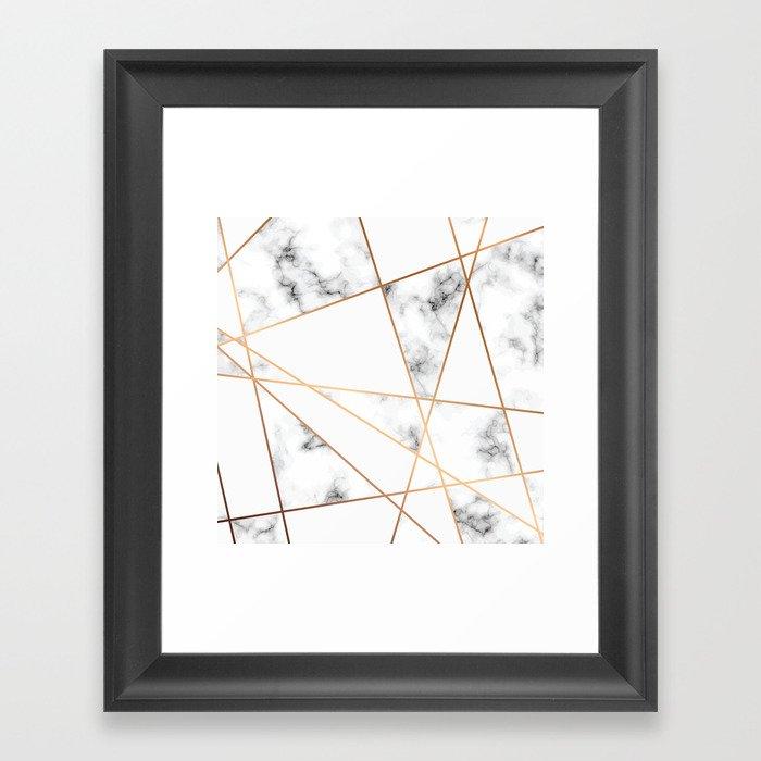 Marble Geometry 054 Gerahmter Kunstdruck