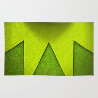 kermit Area & Throw Rugs featuring hi ho! by designoMatt