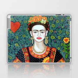 Frida, queen of hearts closer II Laptop & iPad Skin