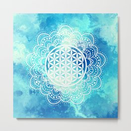 Flower Of Life (Summer Sky) Metal Print