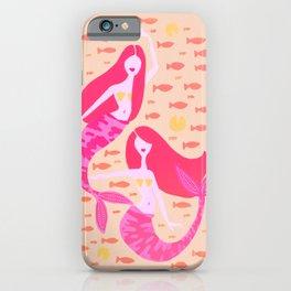 Koi Mermaids – Peach Palette iPhone Case