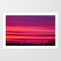 Newport Pell Bridge Sunset Art Print