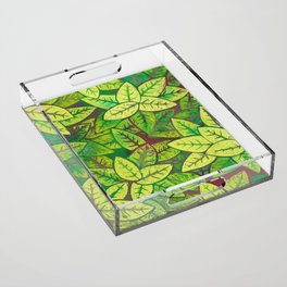 Spring leaves Acrylic Tray