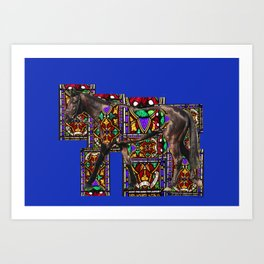 Walking Horse Art Print