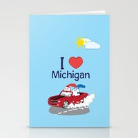 coraline Stationery Cards featuring Ernest and Coraline | I love Michigan by Hisame Artwork
