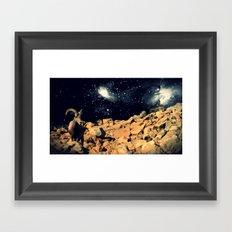 Space Sheep Framed Art Print