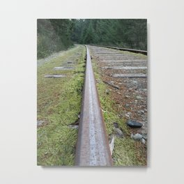 The Abandoned Rails of Vancouver Island Metal Print