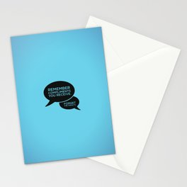 Sunscreen / Remember compliments Stationery Cards