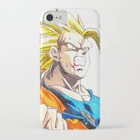goku iPhone & iPod Cases featuring GOKU SSJ3 by DeMoose_Art
