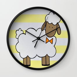 The Little Sheep I Wall Clock