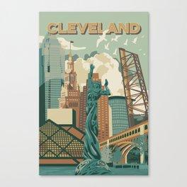 Cleveland City Scape Canvas Print