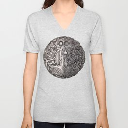 Helvegr Viking Coin Unisex V-Neck
