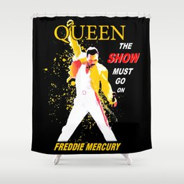 Queen - The Show Must Go On Shower Curtain
