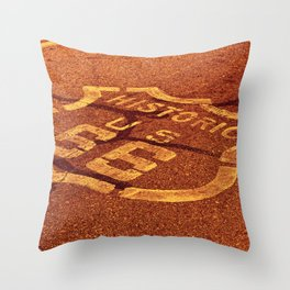 Historic route 66 in the Mojave desert. Throw Pillow