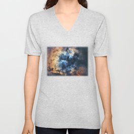 Night Moves - Partial Solar Eclipse Unisex V-Neck