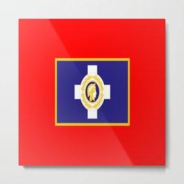 Flag of Athens Metal Print