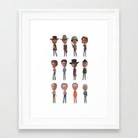 clint barton Framed Art Prints featuring Clint by Mitch Frey