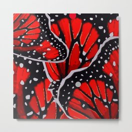 red monarch Metal Print