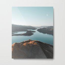 Roys Peak New Zealand Metal Print