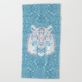 Pastel Quartz Tiger Beach Towel