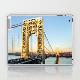 George Washington Bridge Sunset Laptop & iPad Skin