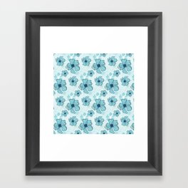 Blue Poppy Bash Framed Art Print