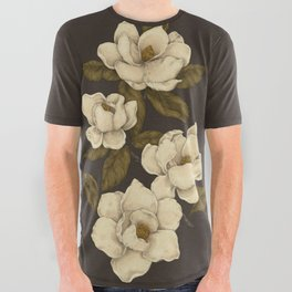 Magnolias All Over Graphic Tee