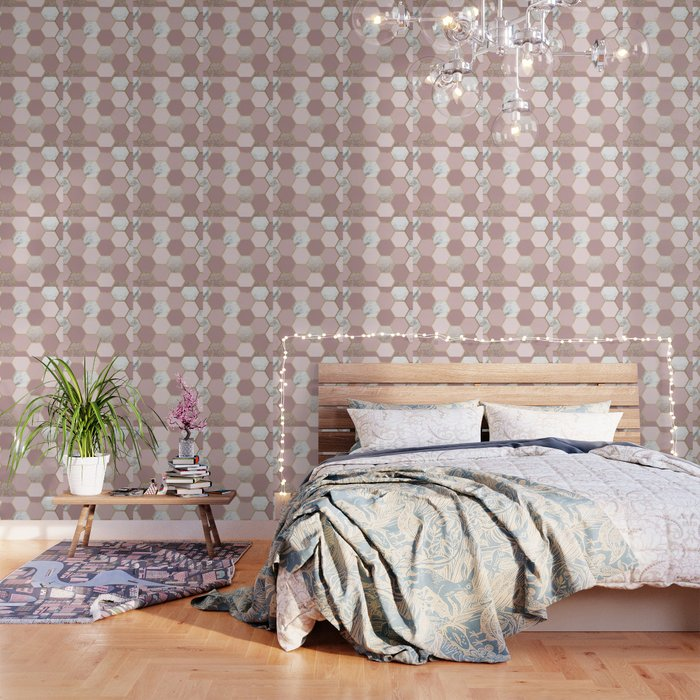 Sensations of the mind rose gold Wallpaper