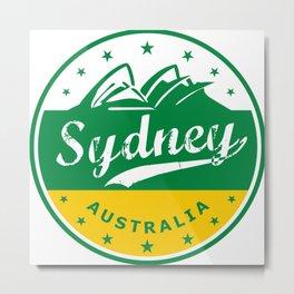 Sydney City, Australia, circle, green yellow Metal Print