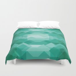 Emerald gem stone Duvet Cover
