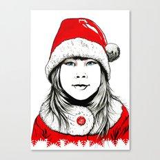 Snow-maiden Canvas Print